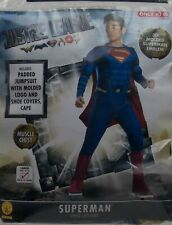 Halloween Dc Justice League Superman Costume Size Large 12-14 Nwt
