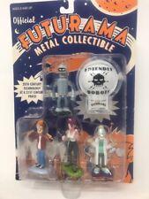 Futurama Metal Collectible 4 Figure Set Clicker Fry Leela Bender Farnsworth