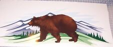 Brown Bear RV Trailer or Wall Mural Decal Decals Graphics Sticker Art Camper