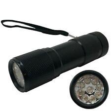 UV 9 LED Ultra Violet Dye Inspection Light Flashlight Blacklight Lamp Torch