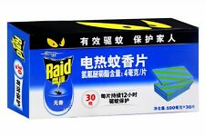 Raid 30pcs Mat Refill for Raid Electric mosquito repeller 12hrs/pcs