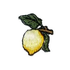 """IRON ON PATCH APPLIQUE - LEMON ON BRANCH  1"""" high x 7/8"""" wide"""