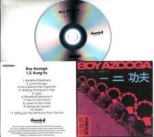 BOY AZOOGA 1,2, Kung Fu! 2018 UK 11-trk promo test CD