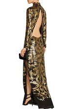 NWT Roberto Cavalli Open Back Embellished Gown  IT42 US6 $12,000