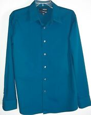 Murano Slim Fit Mens Size XL Long Sleeve Button Down Blue Shirt