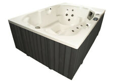 Outdoor Whirlpool Hot Tub MADE IN GERMANY mit Heizung Ozon LED Spa weiss grau 3P