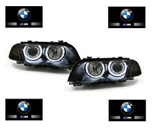 PHARES FEUX AVANT ANGEL EYES BMW SERIE 3 E46 BERLINE PHASE 1 CCFL AU VRAI XENON