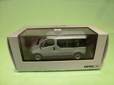 MINICHAMPS 117 01 OPEL VIVARO - PERSON CARRIER - SILVER GREY 1:43 - GOOD IN BOX