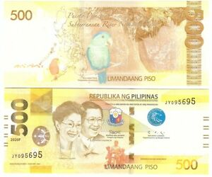 Philippines - 500 Piso 2020 - F UNC With Marks for the Blind Lemberg-Zp