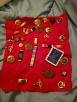 Vintage Lot Of 31 Military Pins