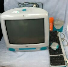 Retro Blue Apple iMac Desktop Computer M5521 With Keyboard & Accessories #832