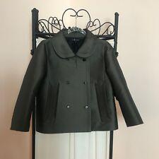 MARC JACOBS Women's Double-Breasted Jacket Dark Khaki SZ 6