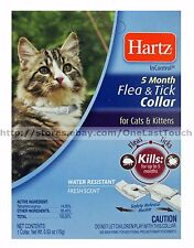 HARTZ* InControl FLEA & TICK COLLAR 5 Months FOR CATS+KITTENS White FRESH 1/5
