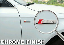 1 x Audi S Line Chrome Finish Badge Rear Boot Emblem S Line A 1 2 3 4 5 6 8 Q RS