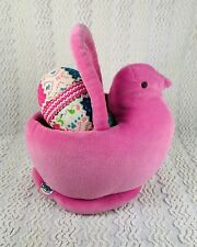 """Peeps Just Born  9"""" Pink Chick Plush Tote Easter Basket 2005"""