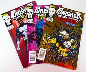 Marvel PUNISHER: WAR ZONE (1994) #23 24 25 Rare NEWSSTAND Lot SUICIDE RUN NM