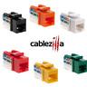 CAT6 Keystone Jack Network Ethernet 8P8C Rj45 110 Punchdown Plug Connector Lot