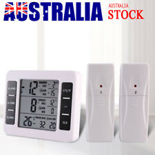 Wireless Digital Freezer Fridge Thermometer Indoor Outdoor Audible Alarm Sensor