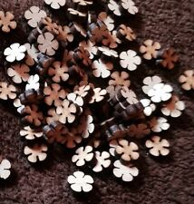 wooden Laser Cut flowers 100 x Mdf Craft Shape Blank 10 Mm