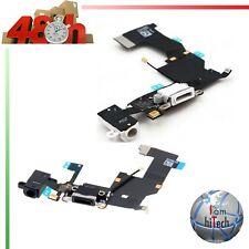 CONNETTORE CARICA DOCK MICROFONO RICARICA FLEX PER IPHONE 5,5S,5C NERO BIANCO