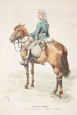 ARMEE RUSSE-GARDE A CHEVAL GRAVURE COULEURS 1890-R923