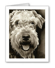 Airedale Terrier note cards by watercolor artist Dj Rogers