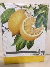 Williams Sonoma Meyer Lemon Tablecloth 70x90 Spring Summer Fruit NWT! Yellow
