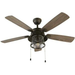NEW!!  HOME DECORATORS Shanahan 52 in. LED Indoor/Outdoor Bronze Ceiling Fan