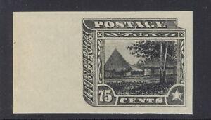 Liberia 1909, 75c village, IMPERFORATE proof in black  #124