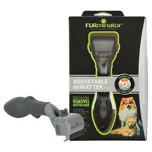 FURminator Adjustable deMatter Tool for Dog/Cat Light Grey, Dark Grey