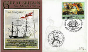 Great Britain Our Island's History Commonwealth Of Dominica First Day Covers