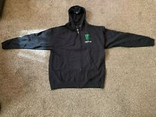 Monster Energy Hoodie w/Zipper Green Logo, Men's Large Brand New
