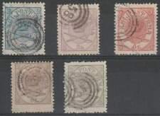 Denemarken gestempeld 1864 used 11-15 - Kroon in Ovaal lees !!!!