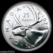 CANADA RARE 1970 25 CENTS UNCIRCULATED FROM ROLL