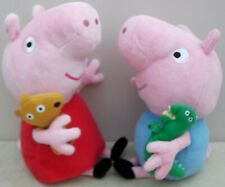 Peppa Pig's PEPPA Pig With Her TEDDY & GEORGE Pig With His DINOSAUR Soft Plush