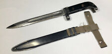 Vintage Russian USSR A K 47 Rifle Bayonet & Scabbard Soviet Cold War Army Knife