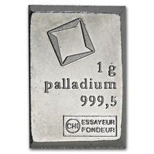 Lingot Valcambi 1g Palladium pur 9995 / 1 Gram Valcambi Fine Palladium 9995 Bar