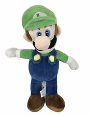 "Official Super Mario Bros Luigi 2017 Nintendo 15"" Plush Toy Teddy Kids Vgc"