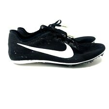 Nike Zoom Mens Victory 3 Track Running Spikes Black White Volt 835997 017