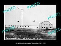 8x6 HISTORIC PHOTO OF CANADA VERMILION ALBERTA VIEW OF THE SKATING RINK c1920