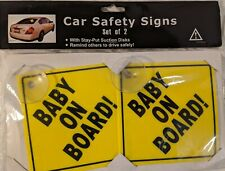 """""""Baby On Board"""" Car Safety Signs - Set of 2"""