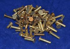 Tubular Rivets - Solid Brass - 8/16 Post - Set of 100  (B58)