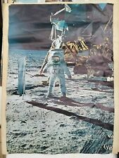 Edwin Aldrin on the moon, original NASA picture 1969 - Affiche ancienne/poster