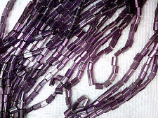 Vtg 500 SILVER LINED PURPLE GLASS LUSTER PILLOW BEADS BEADS 3.5X5mm #052112i