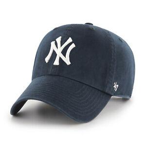 MLB New York NY Yankees Cap navy Basecap Baseballcap cleanup Logo 053838503168