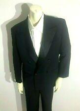 Giorgio Armani Double Breasted Tuxedo Suit Men's 40R - 32 x 29+ Black Formal EUC