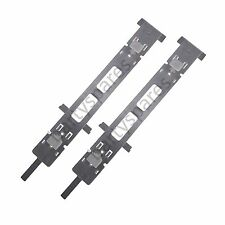 2 x Whirlpool Dishwasher Decor Door Hinge Guide Plastic Bracket Fastener Fixing
