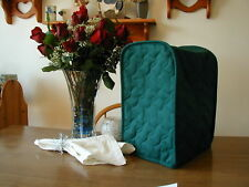 New listing Hunter Green Appliance Cover Small Mixer or Coffeemaker Solid Quilted Fabric