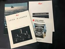 Vtg LEICA ORIGINAL R Lenses Lot of 4 SALES BROCHURES English