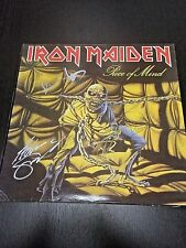 IRON MAIDEN PIECE OF MIND LP SIGNED/AUTOGRAPHED